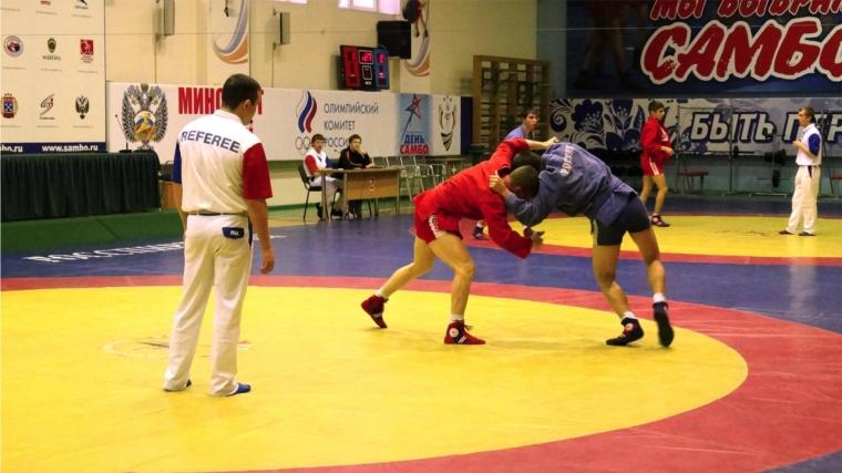 В Чебоксарах прошел чемпионат Чувашии по самбо среди мужчин