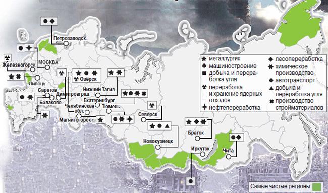 проведения: самые эколоически чистые регионы россии значительные месторождения
