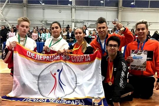 Спортсмены Чувашии достойно выступили на чемпионате ПФО по чир спорту